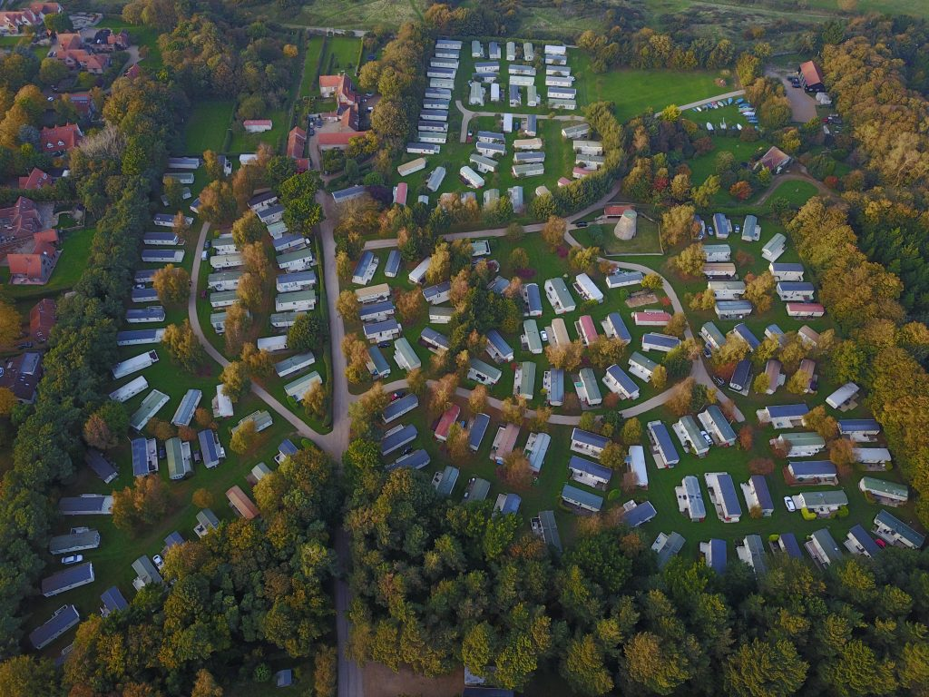 Aerial view of the park. Photo courtesy of Peter Giles